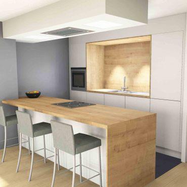 Cuisine scandinave architecte interieur decoration blanc bois équipée