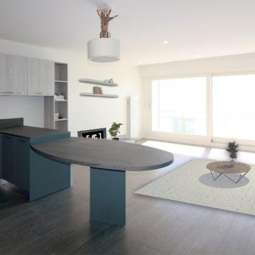 architecte d'intérieur architecture interieur decorateur decoration mer plage sable bleu bois salle de bain cuisine mobilier sur-mesure