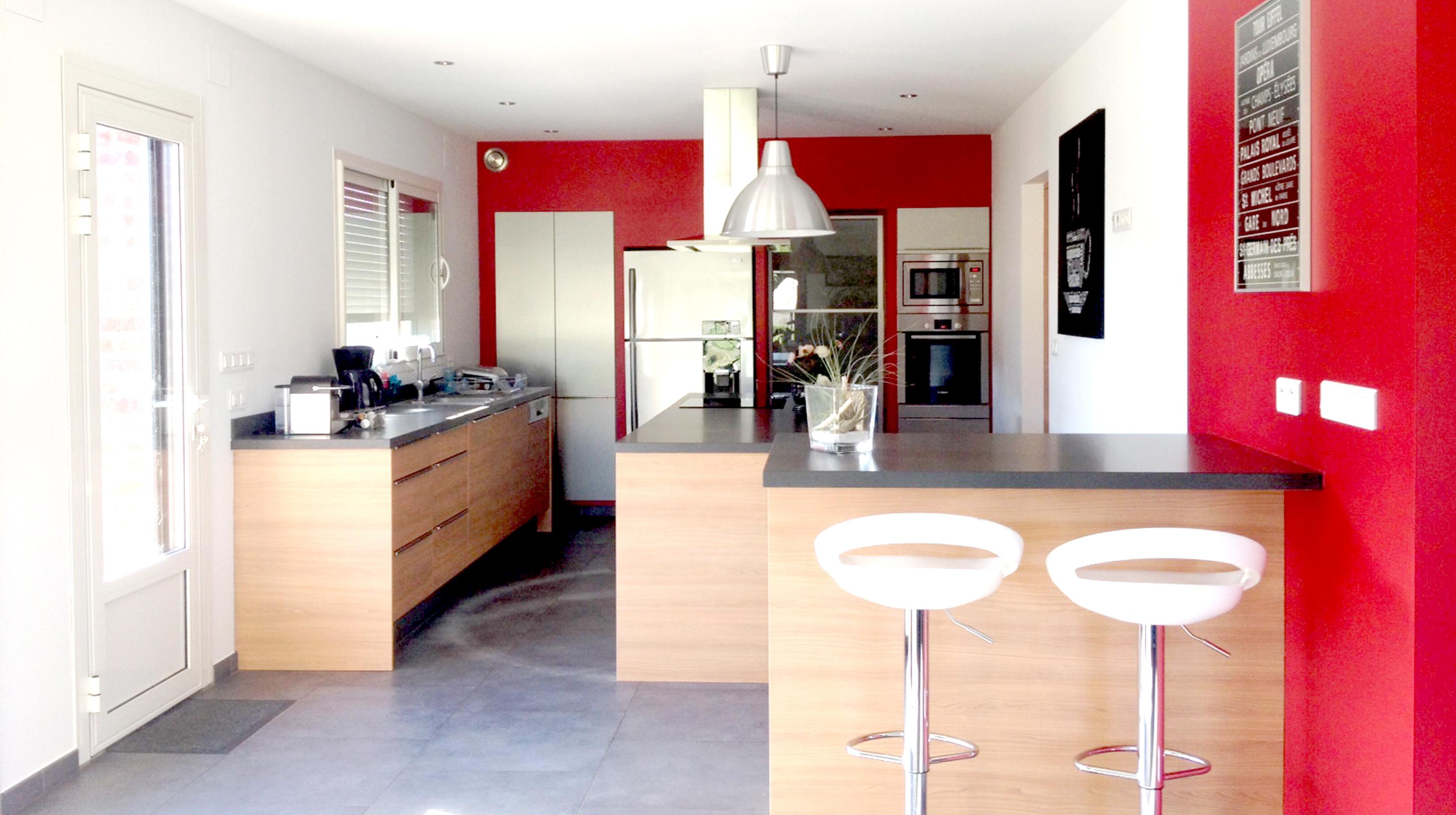 Cuisine moderne boddaert interieur architecte for Interieur cuisine moderne