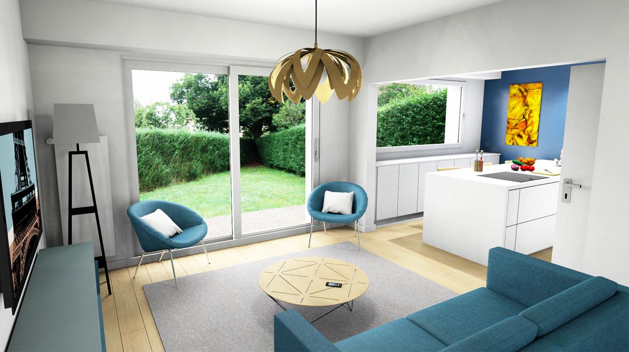 Maison 1960 boddaert interieur architecte for Interieur 1960