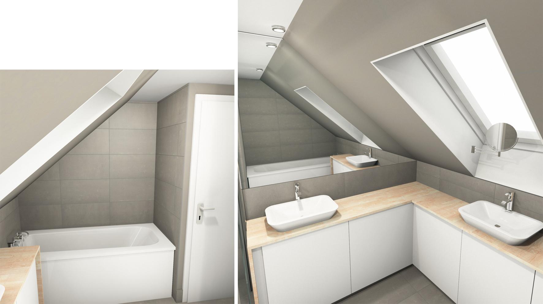 Bains Sous Combles Boddaert Interieur Architecte