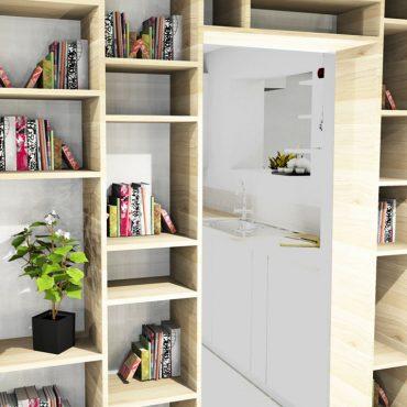 architecte d'intérieur architecte intérieur décoration décorateur decorateur bibliothèque sur-mesure cuisine en longueur entrée salon séjour salle à manger TV