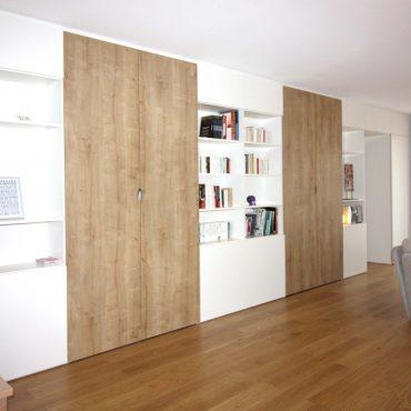 architecte interieur architecte d'intérieur decorateur décoration meuble sur-mesure scandinave blanc bois cuisine schmidt