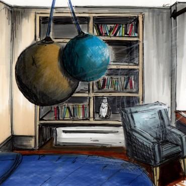 architecte interieur decoration decorateur appartement haussmanien paris verranda enfant chambre séjour salon