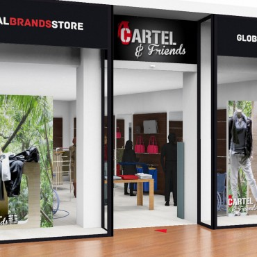 architecte interieur decoration decorateur professionnel magasin prêt à porter façade vitrine