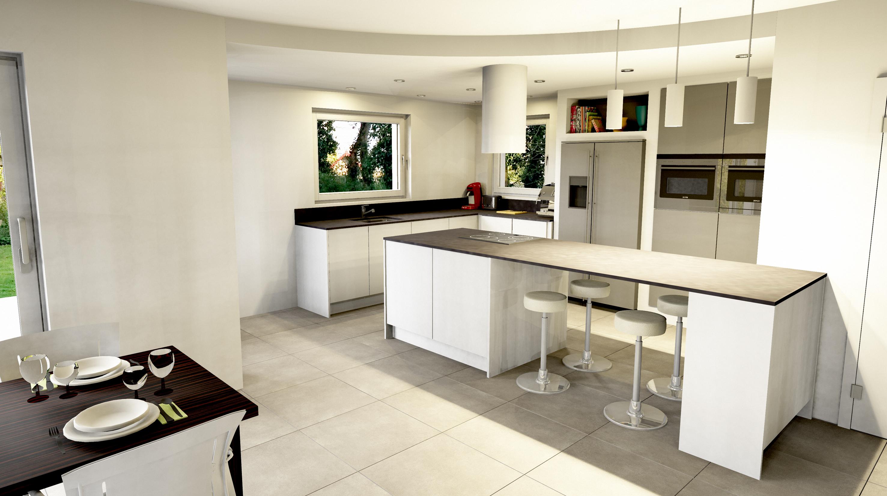Cuisine a l americaine boddaert interieur architecte interieur lille nord - Modele de cuisine moderne americaine ...