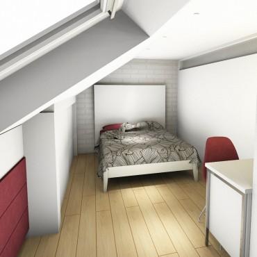architecte interieur decoration decorateur bureau rangements penderie chambre adolescent enfant escalier pas japonais