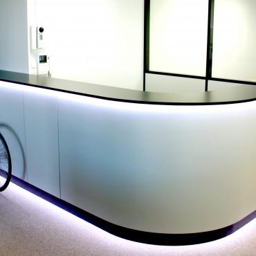 architecte interieur decoration decorateur comptoir bureau accueil vélo professionnel