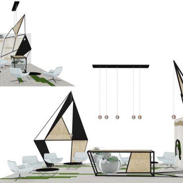 stand professionnel architecture interieur décoration oxygene air vent vol nature structure ossature secondaire